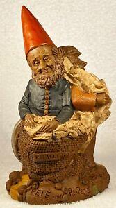 PETE & RE-PETE-R 1990~Tom Clark Gnome~Cairn Item #5121~Ed #83~w/COA & Story