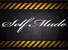 Self Made 22'' decal vinyl car sticker diesel windshield banner jdm honda