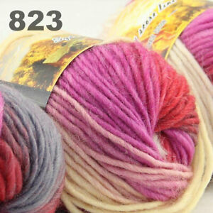 SALE LOT of 3 Skeins x 50g NEW Chunky Colorful Hand Knitting Scores Wool Yarn 23