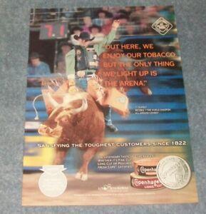 2004 Copenhagen Snuff Rodeo Ad with Bull Rider Ty Murray