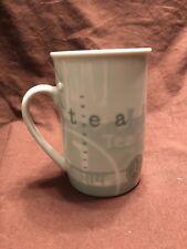 Starbucks Tazo Tea Green White Mug Cup 8 oz Retired in 1998