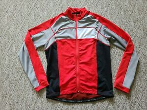 EUC Cannondale Men's Full Zip Cycling Jacket Color Red Gray White Size XL