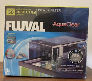 FLUVAL 50 AQUACLEAR 20-50 GAL 200 GPH POWER AQUARIUM FILTER NEW