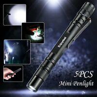 Enjoydeal 1000Lumens LED Lamp Clip Mini Penlight Flashlight Torch AAA OK