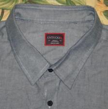 Mens UNTUCKIT Blue Longsleeve Button Down Shirt XXXLC 3XL