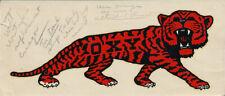RARE Occidental College Oxy Tigers vtg 1940s ORIGINAL Decal Sticker NCAA