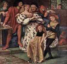 A4 photo Dante Gabriel Rossetti la famille borgia Rossetti 1908 imprimé Poster