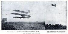 Neue Erfolge in Frankreich: Melvio Banimann & Wilbur Wright *  Bilddokument 1909