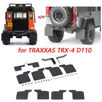 Front & Rear Mud Flaps Rubber Fender & Stand For 1/10 TRAXXAS TRX-4 D110 RC Car