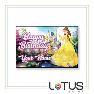 BIRTHDAY BANNERS PERSONALISED - BEST ON EBAY - 3ftX4t OR 1ftX3ft