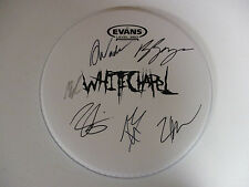 WHITE CHAPEL WHITECHAPEL AUTOGRAPHED SIGNED DRUMHEAD WITH SIGNING PICTURE PROOF