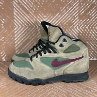 Vintage Mid 90s Nike Caldara Ankle Hiking Boots Mid Women's 8.5 Suede Rare