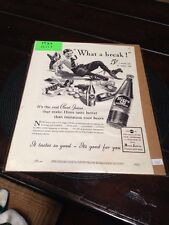 "Collectible RARE 1937 Hires Rootbeer ""What a Break"" Ad"