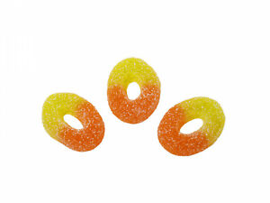 500g BAG OF KINGSWAY PEACH RINGS, CLEARANCE PRICE DISCOUNT SALE