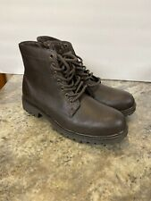 Club Room Landonn Closed Toe Ankle Motorcycle Boots Mens Sz 8 M Brown