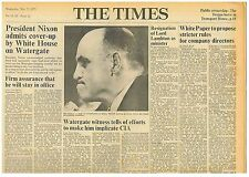 Richard Nixon US President Admits Cover up on Watergate Times May 23rd 1973 B1