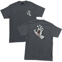 Santa Cruz Screaming Hand T-Shirt Tee Skateboard Charcoal Brand New S M L XL XXL