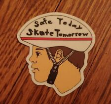 Skateboard Sticker Safe Today Skate Tomorrow Die Cut Decal Vintage Laptop Retro