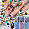 2000pcs 3D DIY Flat Back Nail Art Rhinestones Glitter Diamond Gems Decoration