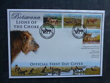 2014 BOTSWANA LIONS 4 STAMP FDC FIRST DAY COVER