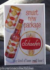"Schaefer Beer Vintage Advertising - 2"" X 3"" Fridge / Locker Magnet."
