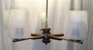 Leuchte Deckenlampe Kronleuchter Danish Mid Century 50s 60er Teak Spider Sputnik