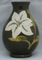 Moorcroft Bermuda Lily on green ground - signed WM
