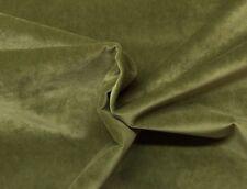 "BALLARD DESIGNS QUEENS VELVET LEAF GREEN SOLID FURNITURE FABRIC BY THE YARD 54""W"