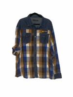 Coogi Hunt Club Button Down Shirt Embroidered Checkered Plaid size 4XL