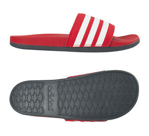 adidas Adilette Comfort Slipper Unisex Casual Gym Swimming Red NWT EG1852