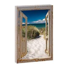 Bild auf Leinwand Fensterblick Nordsee Strand Meer Poster XXL 100 cm*65 cm 635h