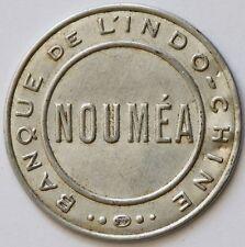 Banque de l'Indochine timbre monnaie NOUMÉA 25 cts RARE