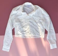 New Look vintage top Blouse Cropped Y2k 2000s old label white