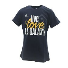 LA Galaxy Official MLS Adidas Apparel Kids Youth Girls Size T-Shirt New Tags
