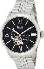Fossil ME3107 Townsman Automatic Black Dial Silver Band 44mm Men's Watch