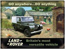Land Rover Go Anywhere Do Anything large steel sign 400mm x 300mm (og)