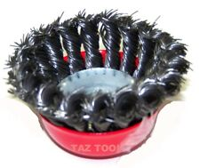"4 pack 4"" Twist Cup Wire Brush 5/8"" Arbor Twisted Wire Fits Most Angle grinder"