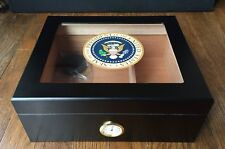Presidential Seal Glass Top Cigar Humidor - Seal of the President