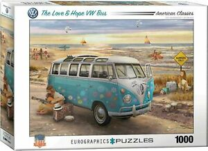 Eurographics The Love and Hope VW Bus Puzzle 1000-Piece Jigsaw EG60005310