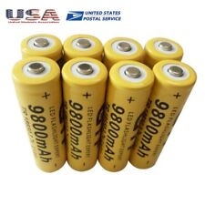 NEW 8PCS 18650 3.7V 9800MAH YELLOW LI-ION RECHARGEABLE BATTERY CELL FOR TORCH US