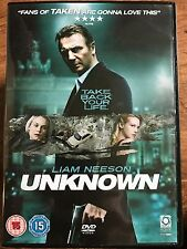 Liam Neeson UNKNOWN ~ 2011 Amnesia / Stolen Identity Mystery Thriller ~ UK DVD