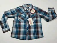 Girls Pearl Snap Plaid Shirt, Small, Cumberland Outfitters Western Rodeo Cowboy