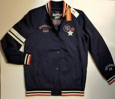Womens Superdry Pacific Patch Bomber Jacket Navy S / US 6 / UK 10 NWT SHIPS FAST