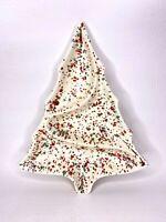 Vintage Ceramic Atlantic Mold Splatter Paint Christmas Tree Divided Candy Dish