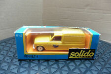 VINTAGE 1/43 SOLIDO RENAULT 4 FOURGONNETTE YELLOW VAN BOXED DIE CAST