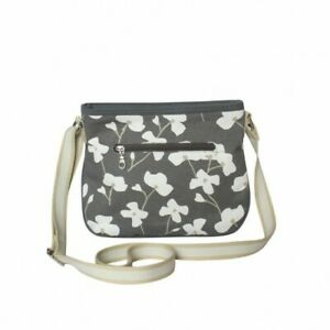 Earth Squared Charcoal Blossom Rosy Bag - BNWT