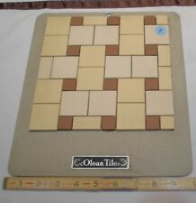 Vintage Ceramic Tile *American Olean* 1950's  Sample colors on masonite board P