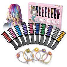 Magicat Haarkreide Set ,10 Haarfarben und 5 Haargummis, Mitgebsel Geburtstag