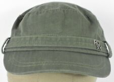 Green Roxy Brand Co Logo Girl's Military Style Cadet Hat Cap Adjustable Strap