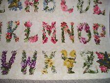 2x Floral Alphabet Quilting Treasures Quilting Fabric  - 89cm piece